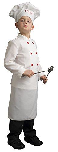 Upyaa-430047-Chef-Cuisinier-Avec-Toque-En-Housse-Luxe-3-4-Ans-Blanc
