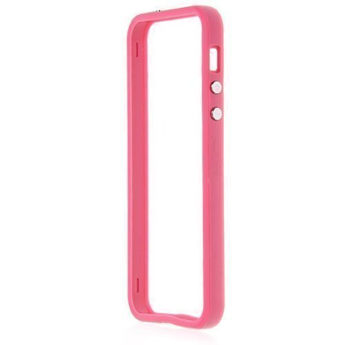 G4GADGET® Iphone 4S/4 Silicon Bumper White/Green 5/5SPink