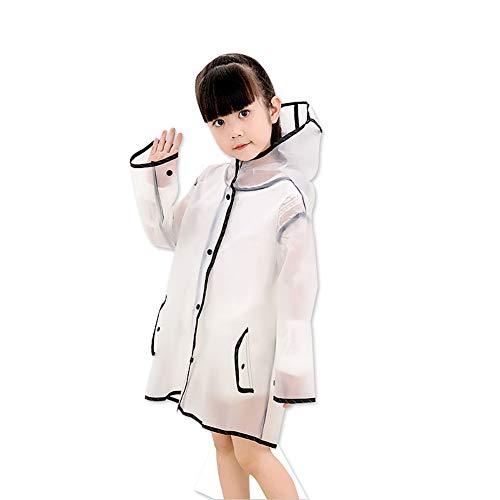 Jetai, poncho impermeabile trasparente da donna, mantella leggera e portatile per la pioggia, giacca antivento e impermeabile in EVA, cappotto antipio