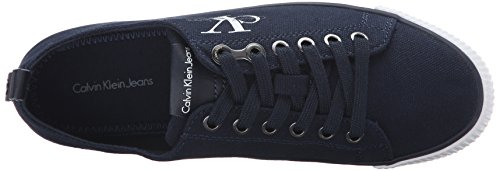 Calvin Klein Jeans Damen Dora Canvas Sneakers Blau (Nvy)