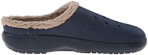 Crocs Colorlite Lined, Unisex-Erwachsene Clogs Blau (Navy/Tumbleweed)
