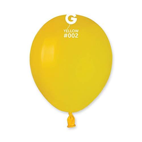 Gemar - Globos de látex, de color amarillo, para fiestas, 100 unidades