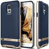 Samsung Galaxy S5 Hülle, Caseology [Wavelength Serie] Dreidimensionale Wellen-Muster / TPU-Ummantelung Polycarbonat-Bumper / Zuverlässiger Schutz für [Galaxy S5] - [Marineblau]