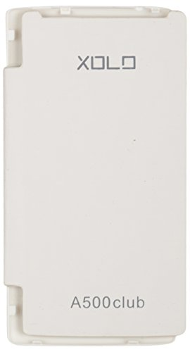 iCandy™ Synthetic Leather Flip Cover For Xolo A500 Club - WHITE  available at amazon for Rs.170