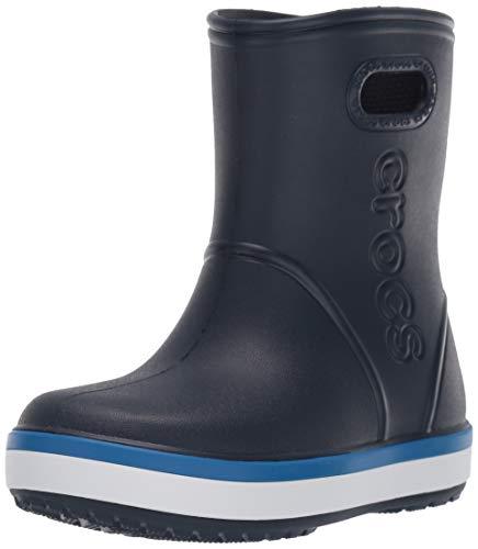 Crocs Crocband Rain Boot Kids, Botas de Agua Unisex Niños, Azul Navy/Bright Cobalt 4kb, 34/35 EU