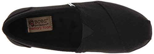 BOBS from Skechers Women's Bliss Highbrow Flat, Brown Woven, 10 M US Black