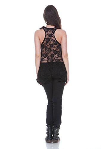 Jawbreaker top sKELETON 2574 ramette gIRLS Noir - Noir