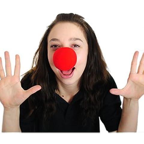 Nariz roja día esponja nariz de payaso