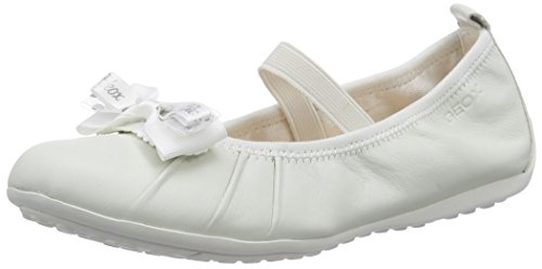 GeoxJR PIUMA BALLERINE B - Ballerine Bambina, Bianco (Weiß (WHITEC1000)), 40