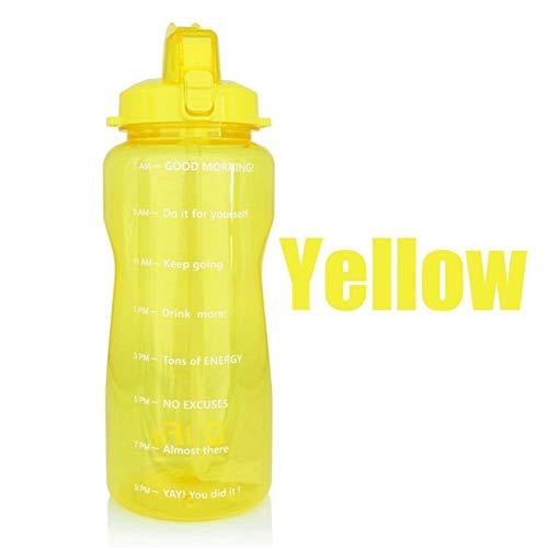 LAOBIAOZI Borraccia Sportiva da 2 Litri da 3,8 Litri con Cannuccia Grande Bottiglia di Proteine Shaker Borraccia Tazza di Zucca Brocca BPA All'aperto Gratuito