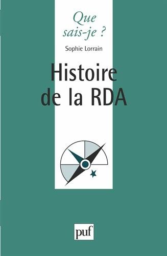 Histoire de la RDA par Sophie Lorrain