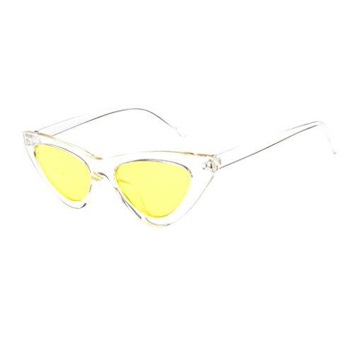 ASHOP Damen Retro Vintage schmale Cat Eye Sonnenbrillen für Frauen Brille Kunststoffrahmen Flache Linse Eyewear N