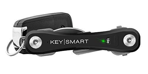 KeySmart Pro | Der kompakte Schlüssel-Träger mit LED Lampe & Tile Smart Technology, Verfolgen Sie Ihre Verlorene Schüssel & Handy mit dem Bluetooth (2-10 Schlüssel, Schwarz) -