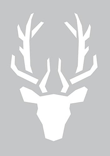 graine-creative-226609-pochoir-adhesif-tete-de-cerf-plastique-gris-22-x-01-x-34-cm