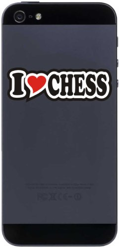 Handyaufkleber / Handyskin / JDM / Die Cut - Aufkleber / Herz - 50 mm I LOVE CHESS