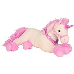 Lifestyle & More Unicornio de Peluche Grandes Animales de Juguete de Color Blanco / Rosa XL 85 cm de Altura y Aterciopelada - para el Amor