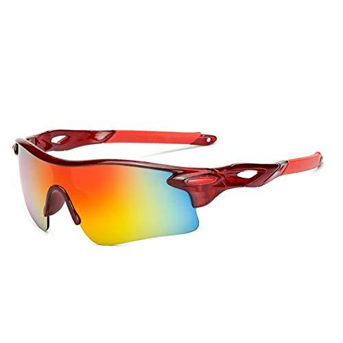 Olprkgdg Outdoor-Sportbrillen Angeln Winddicht Fahrrad Mountainbike Sonnenbrillen Männer und Frauen Brille Reiten Brille (Color : A)