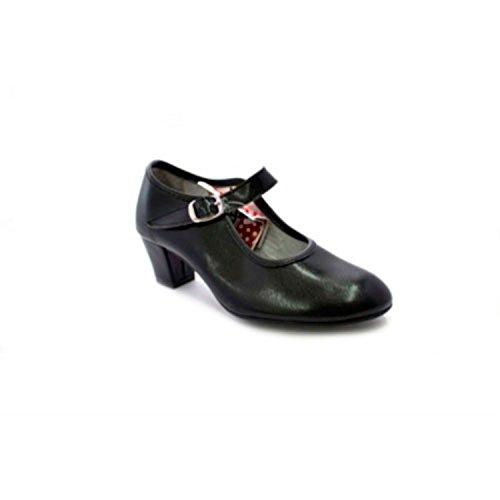 Zapato Baile de tacón para niña y señora Carolina Guillo en Negro Talla 39