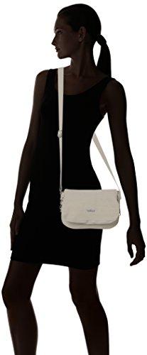 Kipling Damen Earthbeat S Umhängetasche, 26x17x0.1 cm Weiß (Dazz Cream)