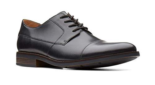 Clarks Herren Becken Cap Derbys, Schwarz (Black Leather), 46 EU -