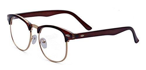 Outray Retro 50er Jahre Classic Nerd Brille, Vintage Unisex Halbrahmen Hornbrille, Clubmaster Stil...