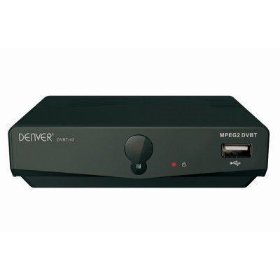 Denver DVBT-43 - Reproductor multimedia (DVB-T, MP3, MPEG2, JPG), negro