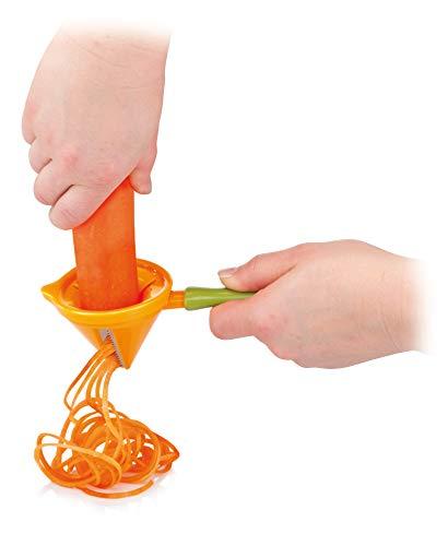 Tescoma Presto Carving Julienneschneider/Spiralschneider, aus Edelstahl, Grün/Orange - 3