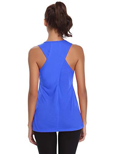 Aibrou Camiseta Mujer Deporte Sin Mangas Yoga Fitness