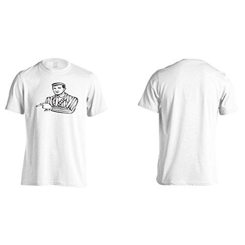 Boss Della Moda Divertente Città D'Arte D'Epoca Uomo T-shirt ww71m White