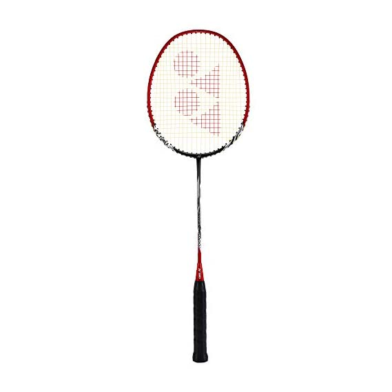 Yonex Nanoray 6000i Aluminum-Alloy Strung Badminton Racquet (Red) with Full Cover