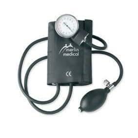 Merlin Medical Sphygmomanomètre (Pression Sanguine) Tensiomètre Anéroïde Manuel A Cliper Professionnel