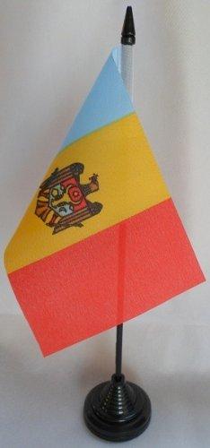 TOP BRAND 12Stück x Moldawien 10,2x 15,2cm Tisch Flaggen mit Sticks & Grundlagen