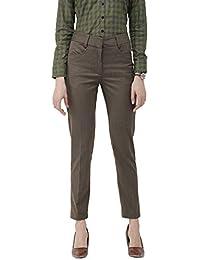 Ombre Lane Women's Walnut Brown Slim Fit Trouser