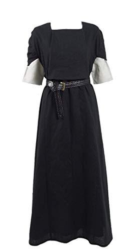 Kostüm Cosplay Stark Arya - Qian Qian Erwachsene Arya Kostüm Season 8 Ritter Outfit Halloween Cosplay Kostüm (S, Schwarz Kleid)