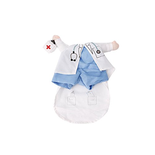 zrshygs Dog Dress Up Lustiges Haustier Kostüm Hund Katze Kostüm Kleidung Kleid Bekleidung Arzt Polizist Cowboy S (Lustige Dress Up Kostüm)