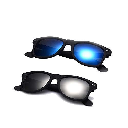 Zbertx Mode Sonnenbrillen männer polarisierte Sonnenbrille männer Fahren Spiegel Beschichtung Punkte schwarz Rahmen Eyewear männliche Sonnenbrille uv400,B3