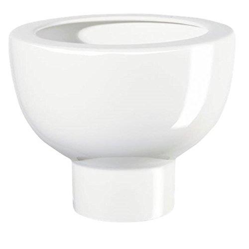 ASA MIDORO Übertopf, Keramik, weiß, 15,5x20x15,5 cm