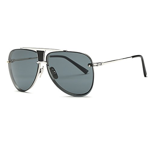 Retro Oversized Sonnenbrille Metall Rahmen für Männer Frauen Der Pilot Gold/Silber/Blau/Rosa