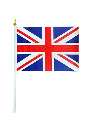 Great British Street Party Olympiade / Jubilee Dekorationen - Union Jack Winkfahne X 12 - 15 X 22cm (Dekorationen British Party)