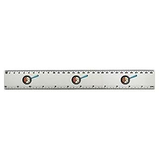 Azeeda 'Bacon & Eggs' 30cm (12 Inch) White Plastic Ruler (RL00038324)