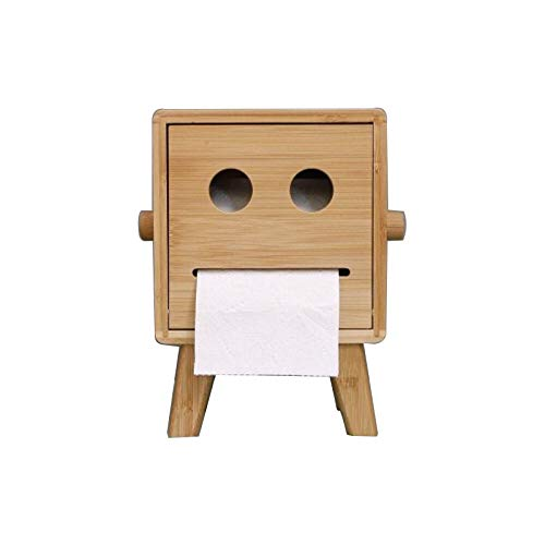 zzyuanwei Kosmetiktücherboxen ToilettenpapierhalterBad Tissue HoldersKreatives Zuhause Box Papier Handtuch Box stehend Typ für lächelndes Gesicht Papier Handtuch Box Office