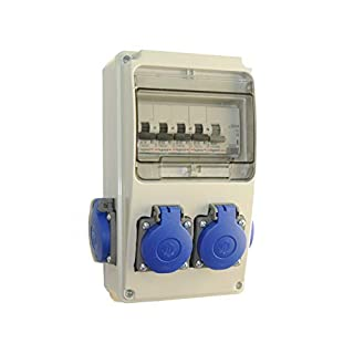 AW-TOOLS Baustromverteiler/Wandverteiler 4 x 230V/16A Schuko + LEGRAND LS und FI verdrahtet