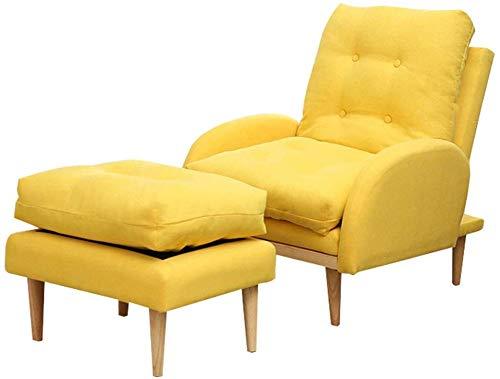 CMXSC Folding Fauler Sofastuhl, bequemer Stuhl 3-Gang-Einstellung Double-Layer-Design Mittagspause Stuhl mit Fußstütze Modernem Einfachheit Bearing Gewicht 150 kg Mehrfarben optional