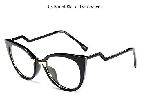 MOJINGYAN Sonnenbrillen Brillen Gestell Für Damen Brille Frames Für Frauen Mode Cat Eye Transparente Frames Gläser, B