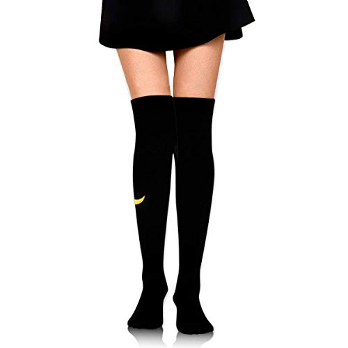 ipse Black Yellow Ankle Stockings Over The Knee Sexy Womens Sports Athletic Soccer Socks ()