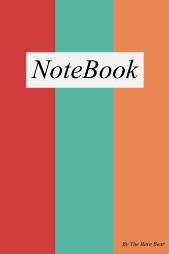 Three Colorful Vertical Pattern Unlined 100 pages Notebook (6