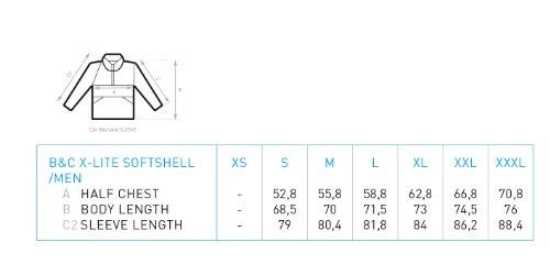 BCJM951 Herren Softshell Jacke atmungsaktiv (bis Größe 3XL) Black