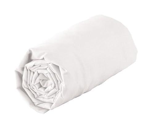 Douceur d'Intérieur Drap Housse Uni 100% coton Blanc 160 x