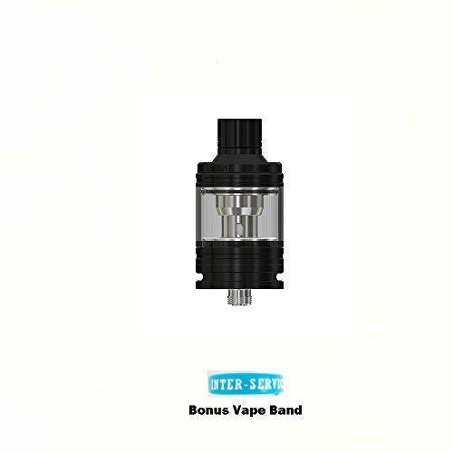 Originale Eleaf Melo 4 D22 Tank Sub Atomizzatore (Nero) con banda Vape Extra Senza Nicotina