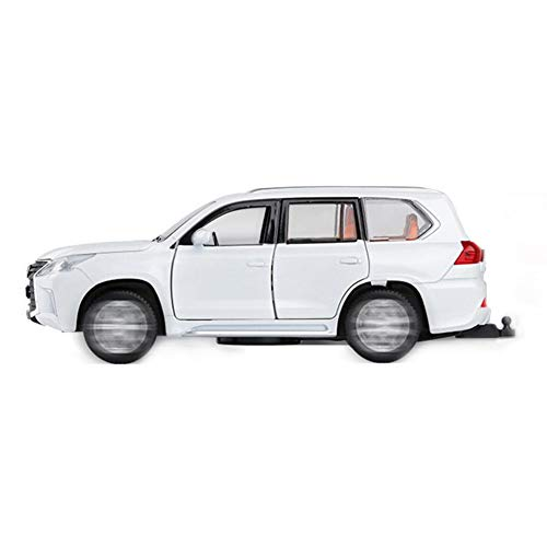 1:32 modello SUV Lexus LX570 in lega, veicolo fuoristrada 4x4 - metallo/plastica, pneumatici in gomma - Suono e luce tirano l'auto di giocattolo per bambini.
